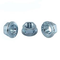 Гайка зубчата з буртиком, DIN 6923 (6L)